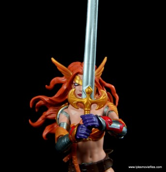 Marvel Legends Angela figure review -sword detail